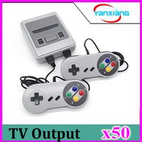 Wholesale nes mini controller for sale - Group buy 50PCS MINI TV Vedio Handheld Console Family Game Player For Child And Adult With Controller Games Consoles Via DHL YX SFC