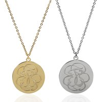 Wholesale Flowers Bears - TL Love Brand Stainless Steel bear Necklace Link Chain Gold Silver Filled Flower Pendant Women Necklace Jewelry
