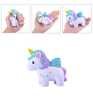 ingrosso regali a forma di cavallo-Unicorn Shape Squishy Slow Rimbalzo Squeeze Toy Lovely Simulation Horse Squishies Decompression Toys Regalo per bambini New Arrive 15 9ng C