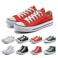 Wholesale Massage Promotion - Promotion Brand New 15 Colors All Size 35-45 High Low Top Style sports stars Classic Canvas Shoe Sneakers Men's Women's Casual Shoes