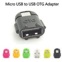 usb otg cabo s4 venda por atacado-Robô Android Em Forma de Micro USB para USB OTG Cabo Adaptador para Telefone Inteligente Galaxy S3 S4 Note2