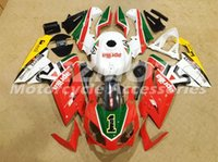 Wholesale Aprilia Rs125 Fairing Set - Injection mold Fairing KIT for Aprilia RS4 125 06 07 08 09 10 11 RS4 RSV 125 2006 2009 2011 White Red ABS Fairings set+3gifts APP4