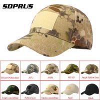 chapeau de l'armée tactique achat en gros de-SDPRUS 1 PC bande Tactical Cap Camouflage Chapeau Sangle Réglable Simplicity Chapeau En Plein Air Soleil Armée Woodland Camo Tactical Cap