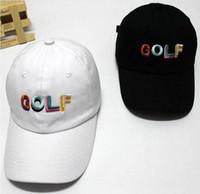 Wholesale odd future cap for sale - Group buy Tyler The Creator Golf Hat Black Dad Cap Wang Cross T shirt Earl Odd Future free ship