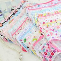 Hot selling 6pcs pack Baby Girls Soft Underwear Cotton Panties For Girls Kids Short Briefs Children Underpants