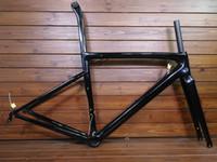 ingrosso struttura bicicletta di2-nuovo V-freno Freno a disco telaio da strada in carbonio telaio in fibra di carbonio T1000 telaio da bicicletta in carbonio BSA / BB30 / PF30 Movimento centrale tessuto UD Di2 Telai meccanici