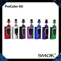 Wholesale Led Multi Color Kit - SMOK ProColor Kit With 5ml TFV8 Big Baby Tank 225W ProColor Mod Six Different Color LED Lights Display Screen Smallest Size 100% Original