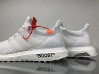 Wholesale Zip Up Ties - 2018 New Arrive Ultra Boost 4.0 Triple off Running Shoes Woman white Ultraboost 4 Primeknit Runs Fashion men sneakers Size 36-46 ZIP TIE