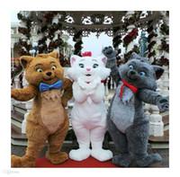 ingrosso costumi di pelliccia del fumetto-Alta qualità EVA Materiale Casco Simulazione pelliccia Carino gatto mascotte costumi a piedi cartoon Apparel festa di compleanno WS062