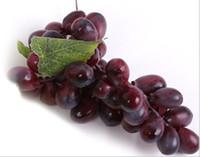 yapay üzüm dekoru toptan satış-Yapay Yeşil Mor Üzüm Küme Simülasyon Sahte Meyve Evi Mutfak Parti Dekorasyon Gerçekçi Natürmort Resimlerinde Mağaza Dekor