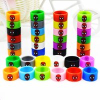 Wholesale Wholesale Spider Rings - Spider Man Silicon band Widened spiderman rubber beauty ring Spider-man 22mm diameter silicone vape band for decorative mechanical mods rda