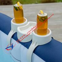 parois de la baignoire achat en gros de-Bestway L-Z-Spa Stand Type de support de boissons Snack Plateau pour piscine gonflable Spa / Hot Tub Side Wall Accessory