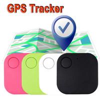 gps локатор для сотовых телефонов оптовых-Анти-потерянный тег GPS Key Finder Bluetooth сотовый телефон кошелек сумки Pet GPS Tracker мини GPS локатор дистанционного управления затвором App IOS Android