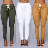 panel delgado de la cintura al por mayor-2018 Colores de caramelo Elástico Sexy Skinny Pencil Jeans para mujeres Leggings Jeans Mujer Pantalones de mezclilla de sección alta de mujer de cintura alta