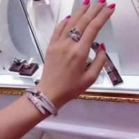 925 cintos de prata venda por atacado-Marca de alta qualidade Sólido 925 Jóias de Prata Esterlina para Mulheres Bracelete Cinto Do Vintage Pedra H Pulseira Anel de Prata Anéis de Jóias conjunto