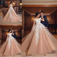 Wholesale lady design wedding dresses for sale - Latest Dubai A Line Wedding Dresses Off Shoulder Appliques Lace Tulle For Pretty Lady Designed Saudi Arabic Wedding Gowns