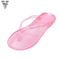 New Woman Flip-Flops Antiskid Transparent Crystal Bathroom Female Sandals  Women Slippers For Family Women Shoes Flats YWZ 709ec9c176fb