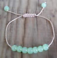 lumière de pierres précieuses achat en gros de-12pcs / lot pomme verte chrysoprase perles de pierre bracelet bracelet de pierres précieuses lumière guérison énergie perlée bracelet