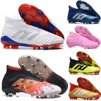 Wholesale original indoor shoes for sale - Original Predator Mens FG Football Boots Techfit Laceless High Ankle Soccer Cleats Cheap Soccer Shoes New