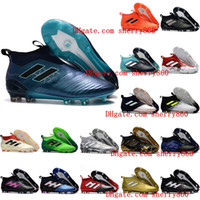 Wholesale Leather Dragon - 2018 ace 17 purecontrol FG ace 17.1 Crampons de football boots mens high top ankle soccer cleats dragon soccer shoes outdoor chuteiras men