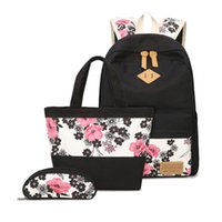 756276c8613a 3 pcs school bags for girls chinese style floral printing backpack girl  schoolbag flower bag ethnic backpacks for teenage girls Y18100705