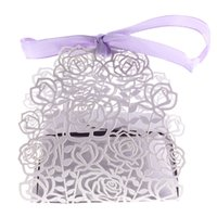 Al por mayor- 12pcs Favor de la boda Favor Sweet Cake Gift Candy Cajas Bolsas Party Anniversary