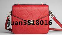 ingrosso borse nere di crossbody-Borsa a tracolla di borse a tracolla di Metis borsa di pochette Metis di alta qualità in vera pelle nera goffrata spedizione gratuita
