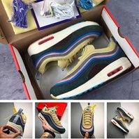 sapatos de corrida de qualidade para homens venda por atacado-Tênis de corrida 97 Sean Wotherspoon com caixa Homens Mulheres Autêntica Qualidade 97 Tênis Esportivos frete grátis