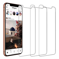 Wholesale touch screen protectors films - For iPhone X 8 8 Plus 7 7 Plus 6 6S Plus Tempered Glass Screen Protector 3D Touch 9H Hardness Screen Protector Film