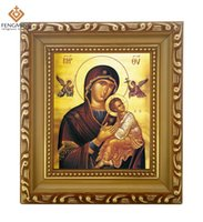 "Wholesale Paint Wood Frames - 2016 Discounte russia Orthodox Church Supply lcon of Mother of God Icon ""Holy"" wood photo Frame Byzantine Art religious crafts"