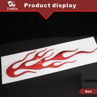 Wholesale 3d car parts resale online - New fashion D PVC Fire Flame Car Stickers Decals Cool Bumper Stickers Car badge Emblems auto parts Vehicle Accessories