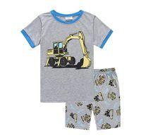 e744a1d09cb44 Ensembles de vêtements pour enfants pyjamas d été pour bébé fille Vêtements  de nuit pour enfants t-shirts manches courtes + shorts costume