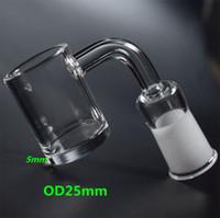 chéri de qualité achat en gros de-Haute qualité XL Flat Top Quartz Banger Nail avec fond épais de 5mm 2mm Thick Domeless Seau à miel épais 10mm 14mm 18mm Male Female Joint