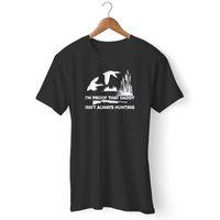 baba tişört toptan satış-Proof Daddy Her Zaman Avcılık Komik Adamın ve kadının T-Shirt 2018 Resmi Yeni Komik T-Shirt Hipster tee Baskı sıcak tees% 100 pamuk