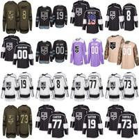 camisola de hóquei feminina venda por atacado-Juventude masculina do sexo feminino Los Angeles Kings personalizado 19 Brett Sutter 8 Drew 79 Jeff Carter Tyler Toffoli Home Longe Hockey Jerseys