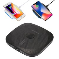 Wholesale samsung mobiles new arrivals online - New Arrival Qi Wireless Charger For iPhone X W fast Charging Pad For Samsung Note Galaxy S8 Plus S7 Edge Mobile Phone Chargers OM O2