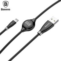 Wholesale Baseus Big Eye Digital Display USB Cable for iPhone Plus Charger Cable with Magnetic Sheet for iPhone S Plus Charging Cable