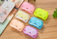 Wholesale colored storage boxes for sale - Group buy Cute Eye Get Colorblend Colored Contacts Tone contact lenses box Contact lens case pair For Transparent DHL