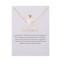 Wholesale pearl necklaces for bridesmaids - Bestselling NO Dogeared LOGO Fashion Jewelry Bridesmaid imitation pearl plated silver Pendant Chocker Necklaces For Women Gril Gift