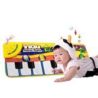 tapetes de música venda por atacado-Crianças Jogo Mat Música Brinquedos Presente Toque Multi Tipo Função Eletrônica Piano Tapete de Alta Qualidade 18tz C R