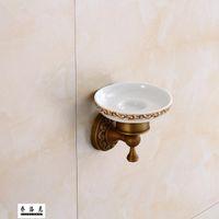 ingrosso piatti antichi-Piatto antico del pendente dell'hardware del bagno della scatola di sapone della rete del sapone antico del rame di stile europeo