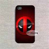 Wholesale iphone 5c funny online – custom Phone Case funny Deadpool Marvel logo cover plastic case for iPhone s s SE c s Plus X samsung galaxy note s9 plus