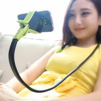 универсальный держатель для универсального телефона оптовых-Универсальный Гибкий Автомобиль Кровать Стол Ленивый Шеи Мобильный Телефон Стенд Держатель