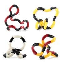 cuerda de juguetes para adultos al por mayor-Nuevo rompecabezas Plastic Winding Finger Twister Toys Crooked Circle Twisted Rope Descompresión Fidget Toy para niños adultos ADHD Autism Stress Relief