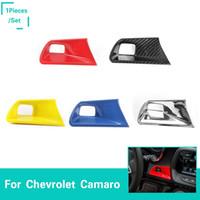 ingrosso copertine per auto-Tasto motore Start Stop Button Decoration Cover Trim Stickers Accessori interni 5 colori ABS Per Chevrolet Camaro 2017 Up Car Styling