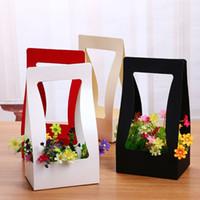 Wholesale Flower Basket Designs - DIY Flower Storage Baskets Hollowed Out Design Paper Basket Foldable Flower Wrapping Gift Box Hot Sale 3zg B