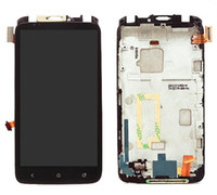 Wholesale one x screen lcd - 100% Test Black Touch Screen Glass Sensor Digitizer + LCD Display Panel Screen Monitor Assembly Frame For HTC One X S720E G23