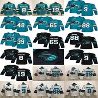 78c3708be San Jose Sharks  8 Joe Pavelski 19 Thornton 88 Brent Burns 9 Evander Kane  Green White  65 Erik Karlsson Couture 2018 Hockey Jerseys