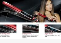 "Wholesale hair straightener ceramic red - 2018 Superb Remington Hair Straightener S9600 Ceramic 1 ""Straight Iron 110V-240V Straightener Iron 455F Red Free Shipping"