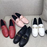 sapatos mocassim para mulheres venda por atacado-Best Selling 2018 Mulheres Mocassins de Moda de Couro Genuíno Mulas de Luxo Sapatos Mocassins de Alta Qualidade Sapatos de Casais Calçados Casuais
